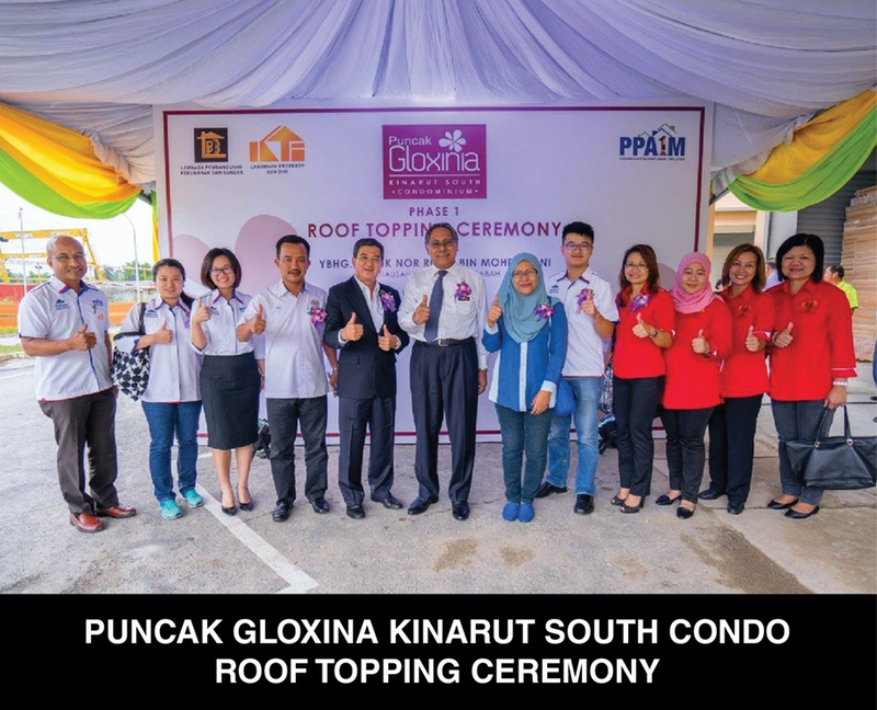 Puncak Gloxina Kinarut South Condo Roof Topping Ceremony